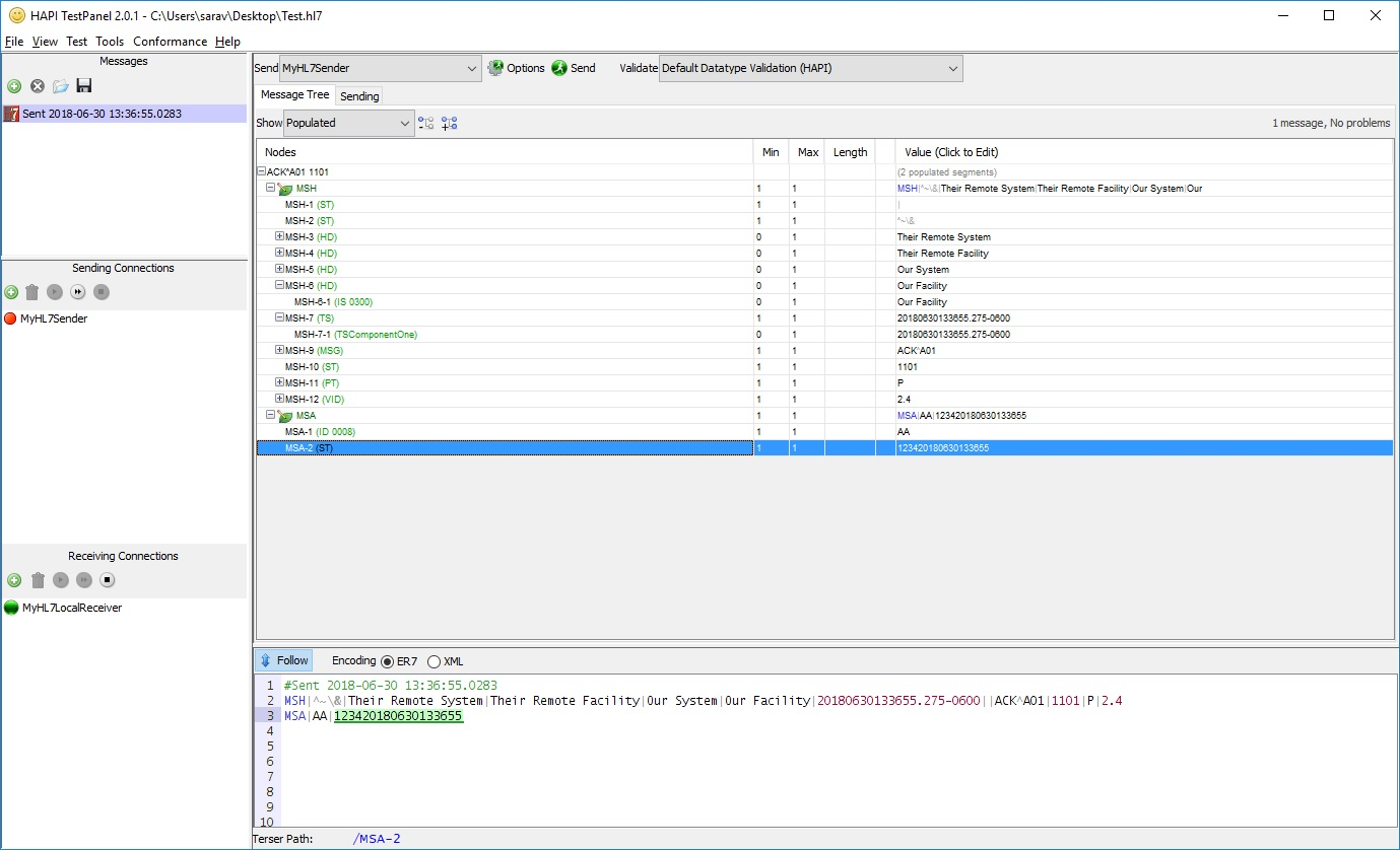HL7 Programming using  NET and NHAPI - Sending HL7 Messages
